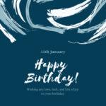 11th january born cute birthday wishes