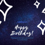 16th january born cute birthday wishes