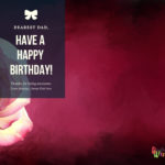 Happy birthday card for father with images