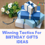 Birthday gift ideas blue boxes with blue ribbons
